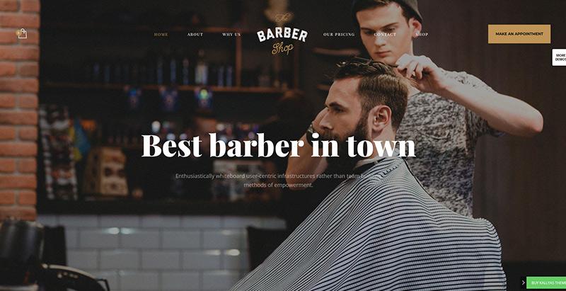 Kallyas themes wordpress creer site internet salon coiffure