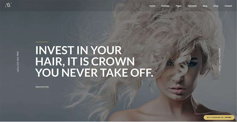 Avonmore themes wordpress creer site internet salon coiffure barbershop