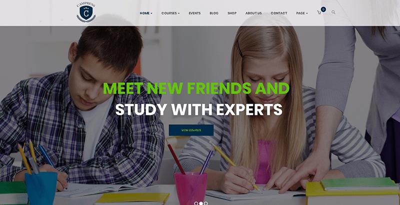 Campress themes wordpress creer site web e learning education en ligne