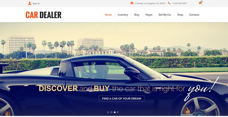 10 th mes wordpress pour cr er un site web de vente de voitures blogpascher. Black Bedroom Furniture Sets. Home Design Ideas