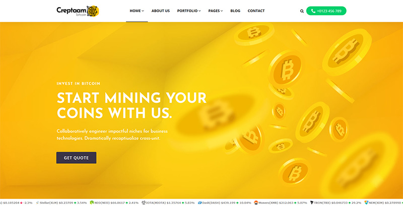 thèmes WordPress de crypto-monnaies - Creptaam