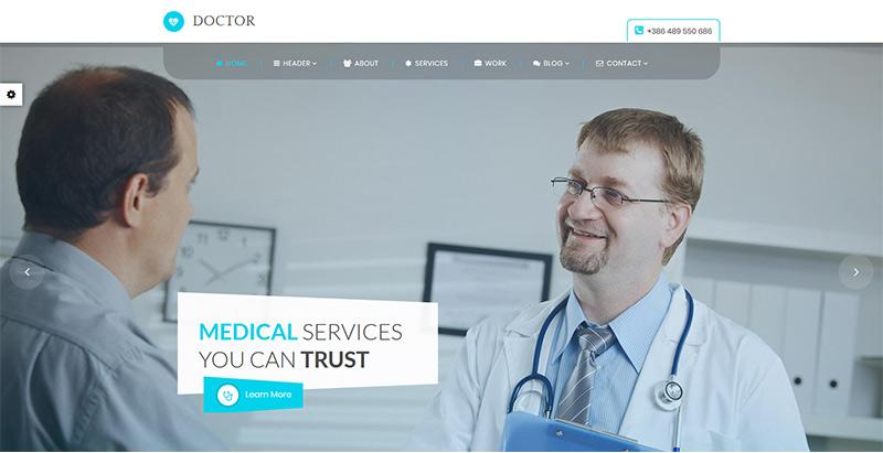Doctor themes wordpress creer site web hopital clinique dispensaire