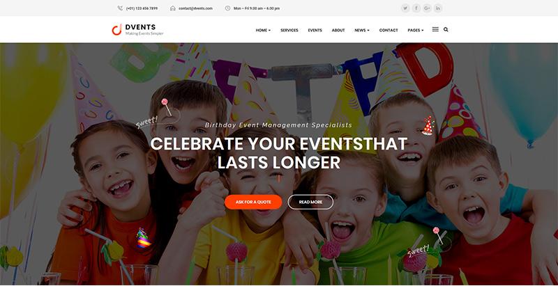 Dvents themes wordpress creer un site internet keynote evenements conférence