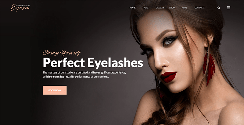 Eyora theme wordpress creer site web salon beauté