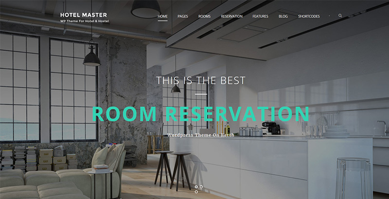 Hotel master themes wordpress creer site internet hotel motel auberge