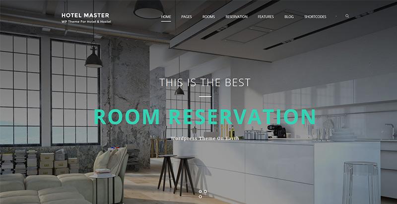 meilleurs thèmes WordPress d'hôtel pour créer un site web - Hotel master