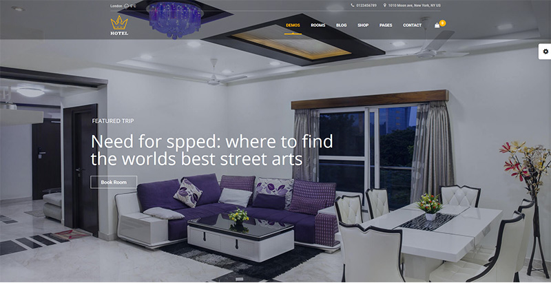 Hotel Queen Themes Wordpress Creer Site Internet Hotel Motel Auberge