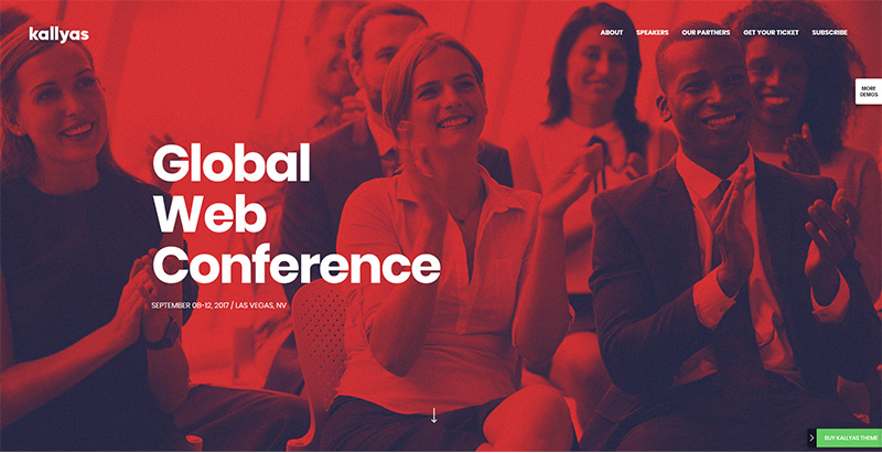 Kallyas themes wordpress creer un site internet keynote evenements conférence
