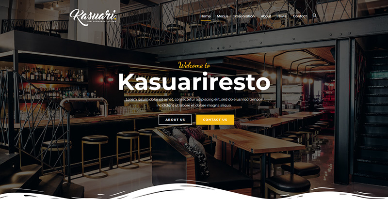 Kasuari Themen WordPress erstellen Website Restaurant Bar Lounge