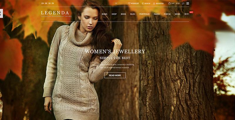 Legenda themes wordpress creer boutique ligne shop store