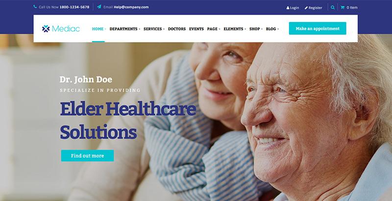 Mediac themes wordpress creer site web hopital clinique dispensaire