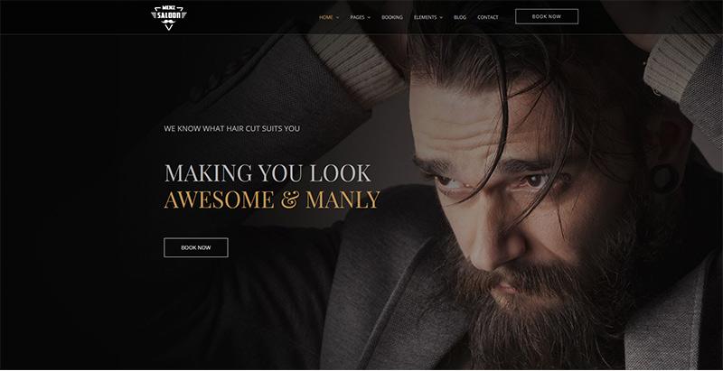 Menzsaloon themes wordpress creer site internet salon coiffure barbershop