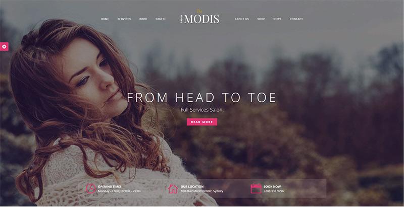Modis themes wordpress creer site internet salon coiffure barbershop