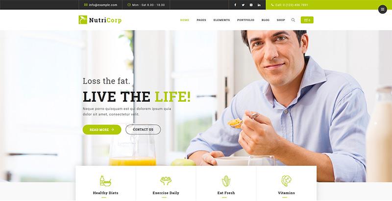Nutricorp themes wordpress creer site internet nutritionniste dieteticien