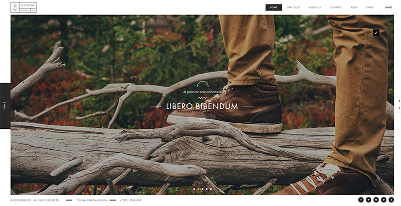 Outdoor themes wordpress premium creer site web photographe