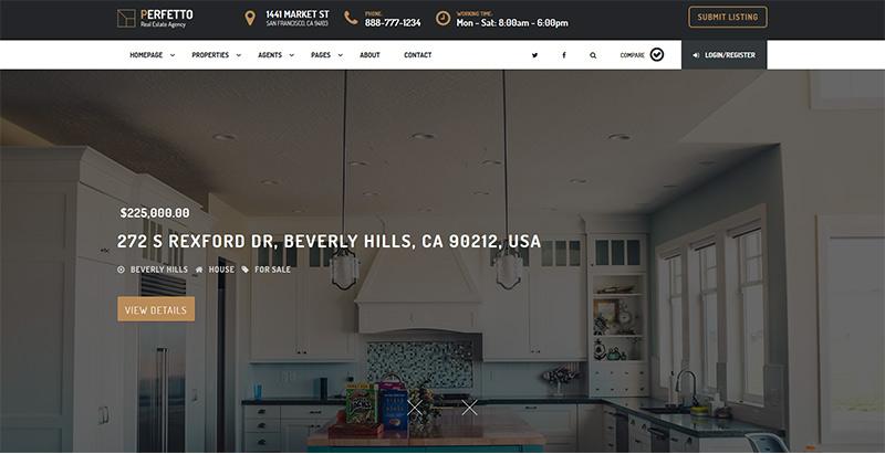 Temas de 10 WordPress para crear un sitio web de venta de viviendas ...