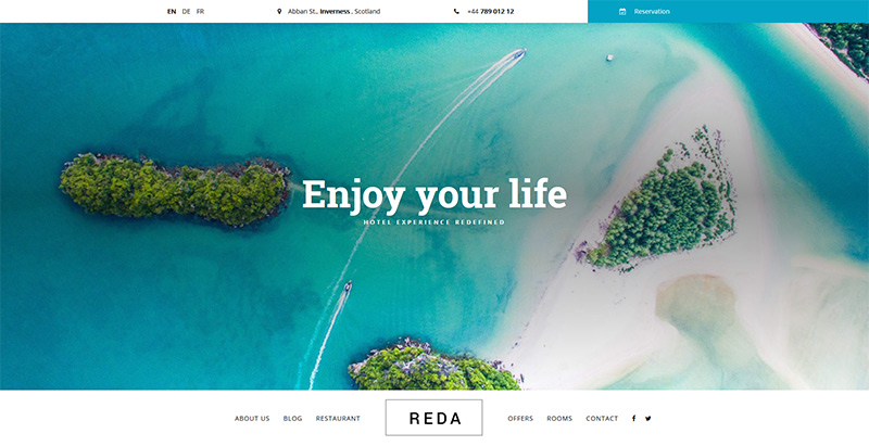 Reda themes wordpress создать сайт отель мотель инн