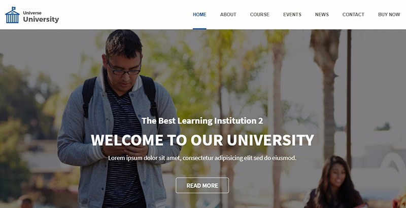 Universe Themes Wordpress Creer Site Web E Learning Education En Ligne