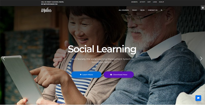 Wplms themes wordpress creer site web e learning education en ligne