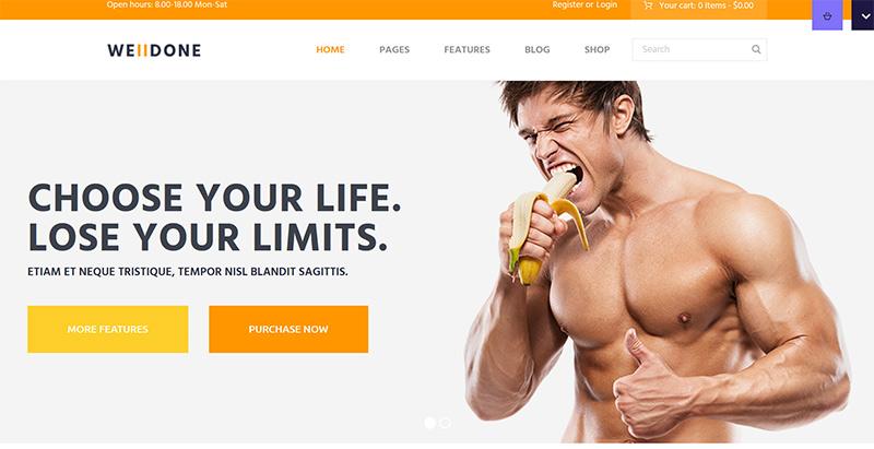 Welldone themes wordpress creer site internet nutritionniste dieteticien