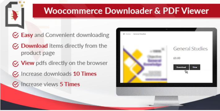 WooCommerce Downloader and PDF Viewer