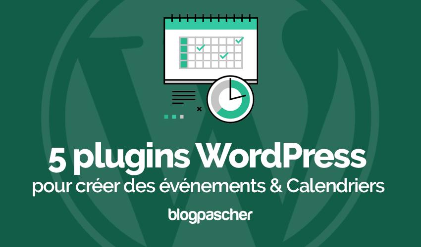 Plugin Wordpress Créer événements Calendriers