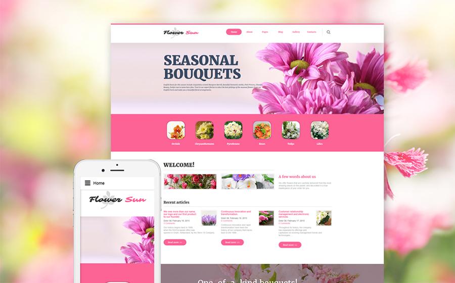Modèle Joomla pour site de fleurs