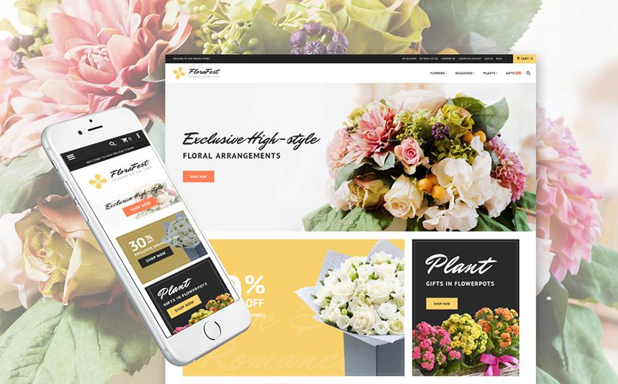 Thème Magento 2 pour magasin de fleurs