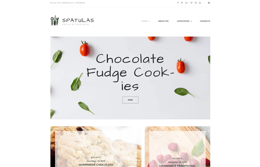 Spatula - Resep & Makanan WordPress Theme Blog
