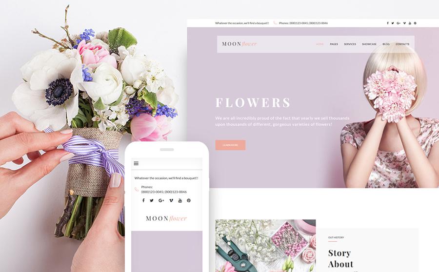 Moon Flower - Thème WordPress pour magasin de fleurs