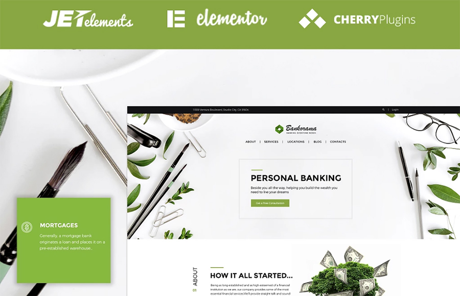 Bankorama - Banco WordPress Tema