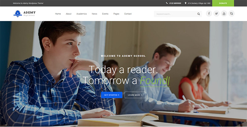 Ademy themes wordpress creer site web e learning education enseignement