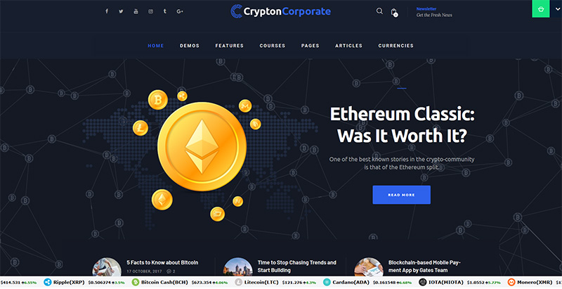 Crypton themes wordpress creer site web entreprise cryptomonnaies