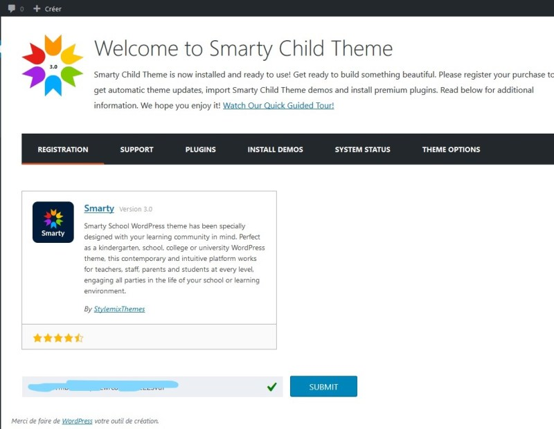 Demo import critique theme wordpress premium smarty elearning 9