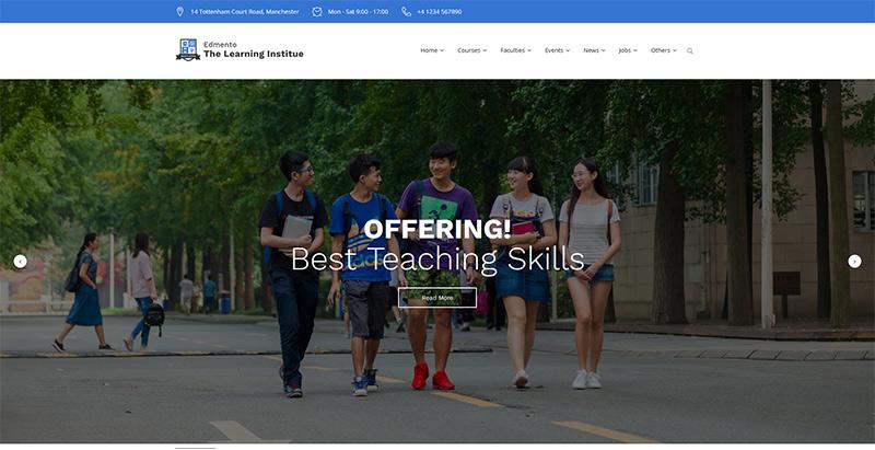 Edmento themes wordpress creer site web e learning education enseignement