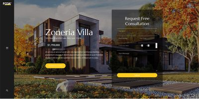 Temi Foja Wordpress Crea sito web Architetto Decoratore d'interni