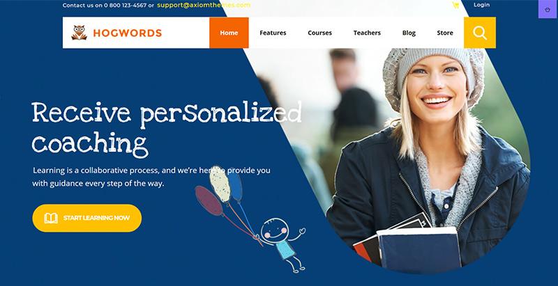 Hogwords themes wordpress creer site web e learning education enseignement