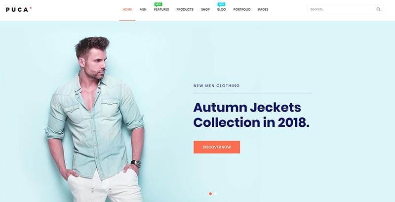 Puca themes wordpress creer boutique en ligne ecommerce