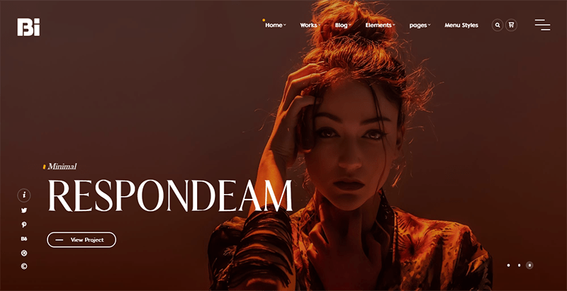 Thebi theme wordpress creer site web photographe
