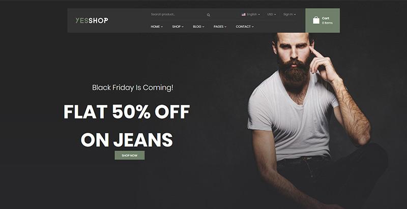 Yesshop themes wordpress woocommerce creer site web e commerce