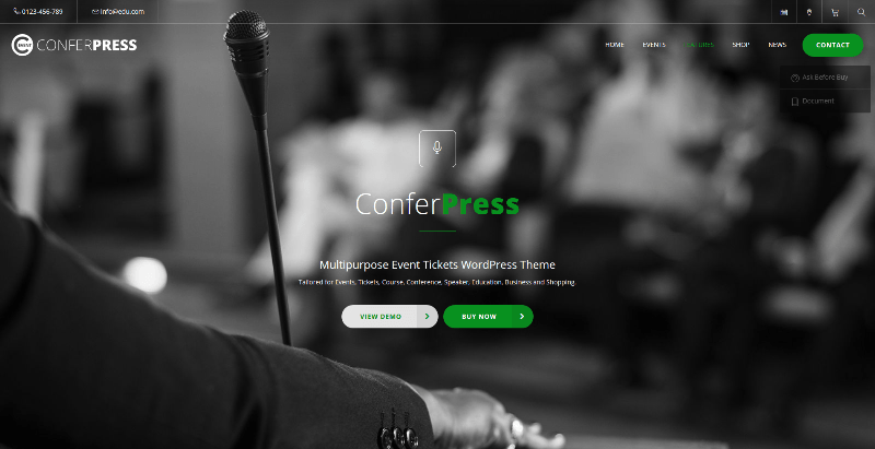 Conferpress themes wordpress creer site web event conference evenement
