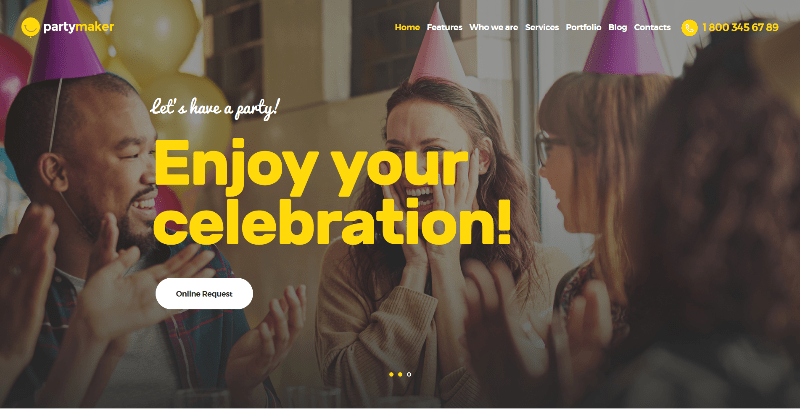 Partymaker themes wordpress creer site web event conference evenement