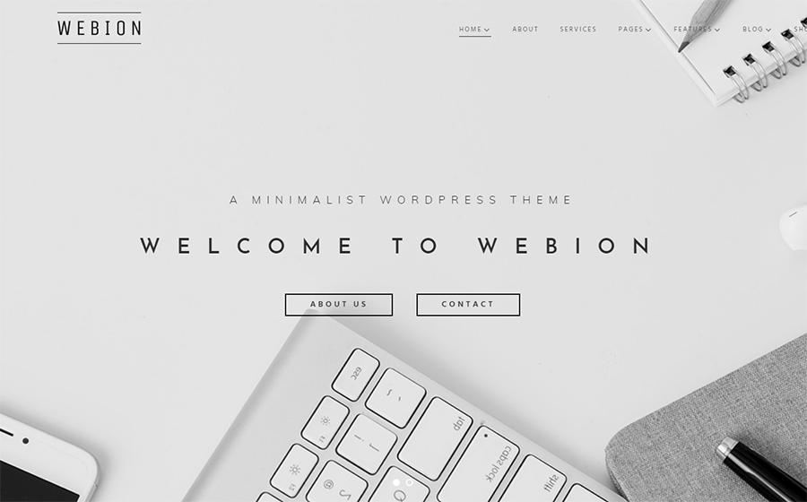 Webion: tema WordPress minimalista, accattivante e versatile