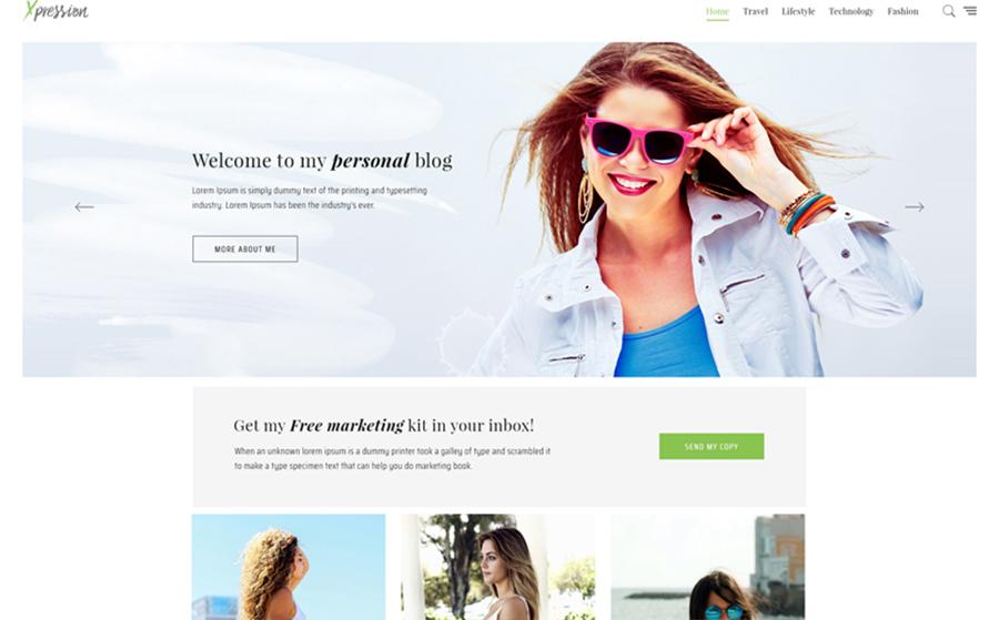 xPression - Tema WordPress visivamente attraente e veloce minimalista per blog