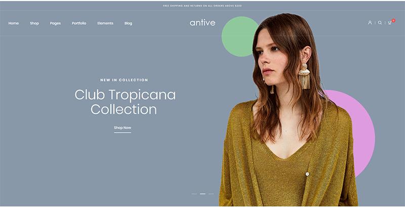 Antive themes wordpress creer site internet e commerce boutique en ligne ecommerce