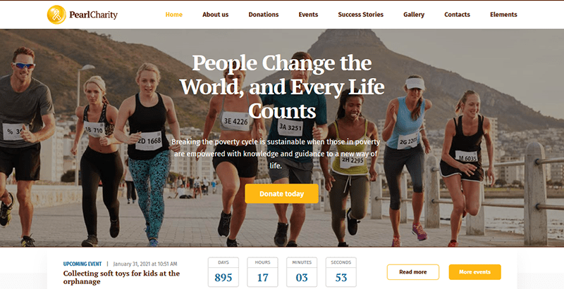 Charity nonprofit organizations theme wordpress creer site web ong