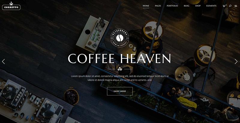 Corretto themes wordpress creer site web restaurant bar pub cafe