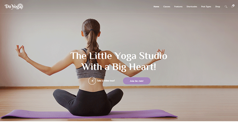 créer un site web de studio de yoga - Do yoga