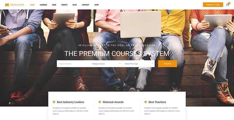 Educatito themes wordpress creer site web ecoles universites college