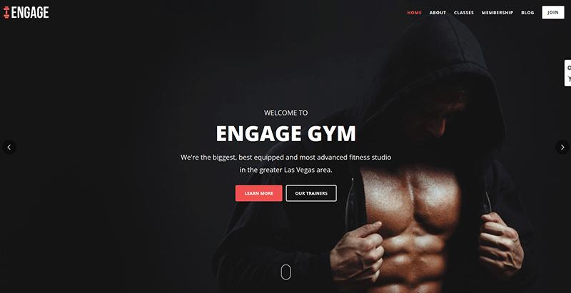 Engage themes wordpress creer site internet club fitness sport gym